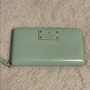 Kate Spade light aqua wallet
